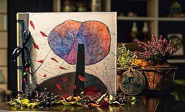 Papiernictvo - Fotoalbum klasický, polyetylénový obal s autorskou ilustráciou ,,Atmosferická jesenná,, (dočasne nedostupné) - 10048917_