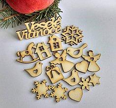 Polotovary - Vianočná sada na tvorenie (malá) - 10049087_