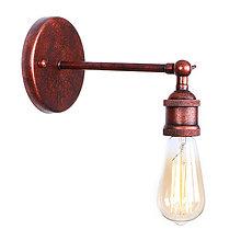 Svietidlá a sviečky - Retro nástenné svietidlo, staromedená farba - 10049009_