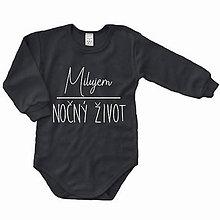 Detské oblečenie - Milujem nočný život - detské body - 10052291_