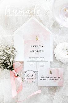 Papiernictvo - Svadobné oznámenia - Powder Pink - 10051050_