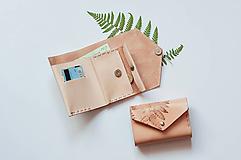 - Kožená peňaženka BOTANIC (reálna papraď) - 10049828_