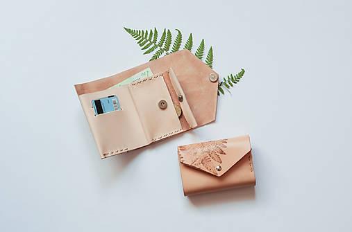 Kožená peňaženka BOTANIC (reálna papraď)