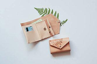 Peňaženky - Kožená peňaženka BOTANIC (reálna papraď) - 10049828_