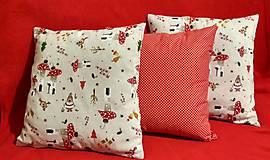 Úžitkový textil - Vianočné obliečky - 10053036_