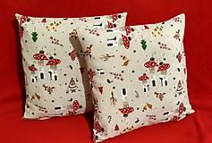 Úžitkový textil - Vianočné obliečky - 10053042_