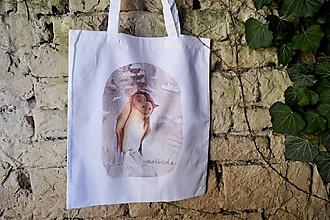 Nákupné tašky - Plátená taška- Sova - 10049961_