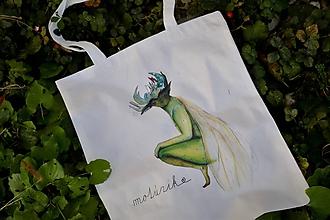 Nákupné tašky - Plátená taška - škriatok - 10050023_