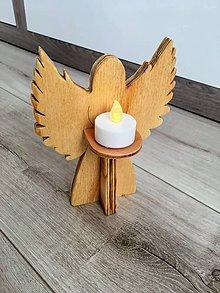 Dekorácie - Anjel so svetielkom - 10051384_