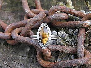 Prstene - Strieborny prsteň Ag 925 Tigrie oko - 10049251_