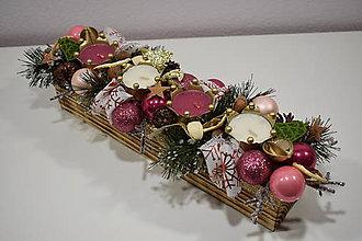 Dekorácie - Adventný svietnik: Sladké vianoce 30403 - 10051623_