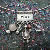 Náhrdelníky - Farebný svet - ružová - 10051376_