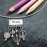 Náhrdelníky - Farebný svet - ružová - 10051377_