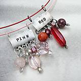 Náhrdelníky - Farebný svet - ružová - 10051438_
