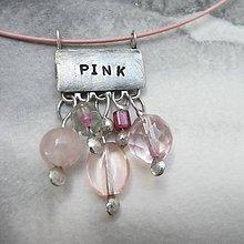 Náhrdelníky - Farebný svet - ružová - 10051437_