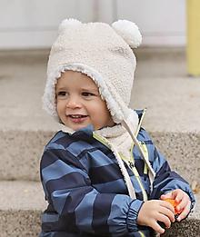 Detské čiapky - Zimná čiapka macko-extra teplá-nepremokavá - 10051346_