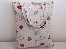 Nákupné tašky - ...srdiečka perníčkové.... - 10050011_