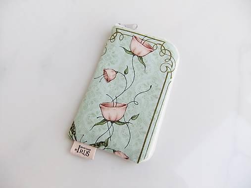 Růžičky Mirabelle II romantické pouzdro na telefon
