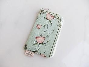 Na mobil - Růžičky Mirabelle II romantické pouzdro na telefon - 10052393_