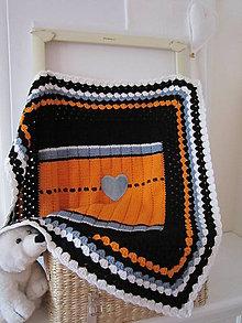 Textil - Detská ručne pleteno-háčkovaná deka - 10050437_