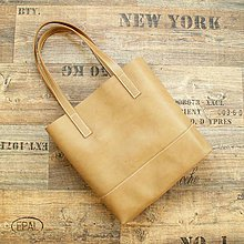 Veľké tašky - Velká nákupní kožená taška - 10052504_