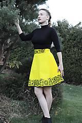 Sukne - Ručne maľovaná sukňa - 10050288_