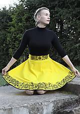 Sukne - Ručne maľovaná sukňa - 10050290_