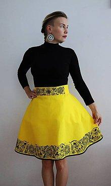 Sukne - Ručne maľovaná sukňa - 10050289_