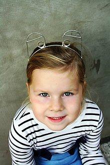 Ozdoby do vlasov - Cínovaná čelenka - Žabka - 10057882_