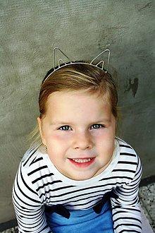 Ozdoby do vlasov - Cínovaná čelenka - Mačička - 10057885_