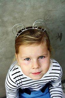 Ozdoby do vlasov - Cínovaná čelenka - Opička - 10057889_