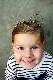 Ozdoby do vlasov - Cínovaná čelenka - Medvedík - 10057892_