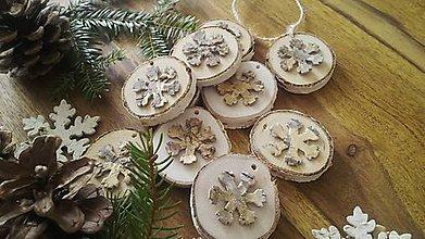 Dekorácie - Vianočná prírodná sada - zlaté brezovníčky:-) - 10056228_