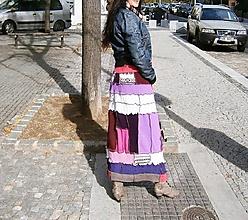 Sukne - lel sukňa patchwork pinkovo veselá - 10055214_