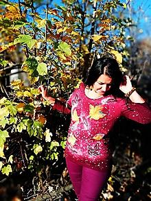 Topy - Dámsky top - Jesenné lístie dúhové - 10055609_