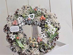 Dekorácie - Vianočný venček - 10053323_