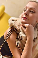 Šály - LATTÉ - luxusní štóla - 10055403_