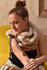Šály - LATTÉ - luxusní štóla - 10055404_