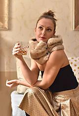 Šály - LATTÉ - luxusní štóla na knoflíky - 10055421_