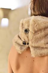 Šály - LATTÉ - luxusní štóla na knoflíky - 10055422_