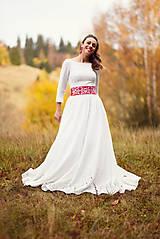 Šaty - Krajkové svadobné šaty - 10057580_