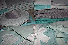 Textil - Súprava pre bábätko *mint-šedá* - 10053394_
