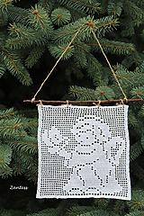 Dekorácie - AKCIA Anjelik s holubičkou - 10057248_