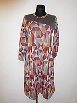 Šaty - Barevné trojúhelníky - 10053442_