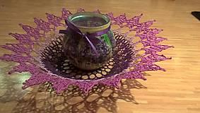 Dekorácie - Fialový košík - 10057268_