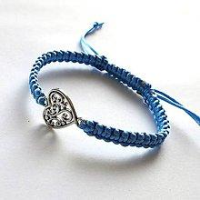 Náramky - S filigránovým srdiečkom (modrá svetlá) - 10056760_
