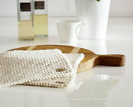 Úžitkový textil - Podložky EXTRA hrubé - prírodné - 10054367_