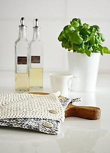 Úžitkový textil - Chňapky II EXTRA hrubé - prírodná/melír (Béžová) - 10054387_