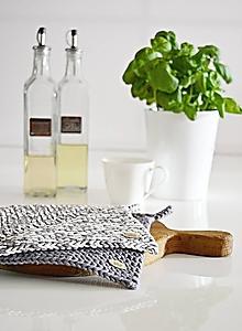 Úžitkový textil - Chňapky II EXTRA hrubé - tmavosivá/melír - 10054413_