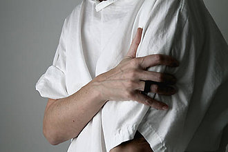 Prstene - betónový prsteň SQUARE (čierna) - 10056311_